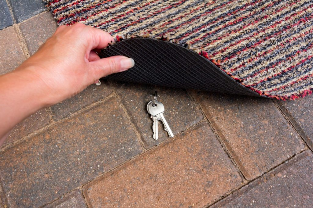 Not under the doormat! 5 of the worst places to store a spare key