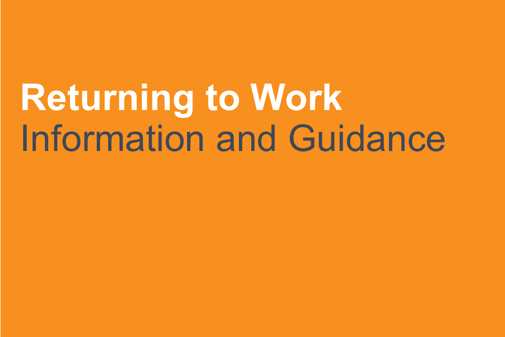Helping toProtect your Business with aReturn to Work pack