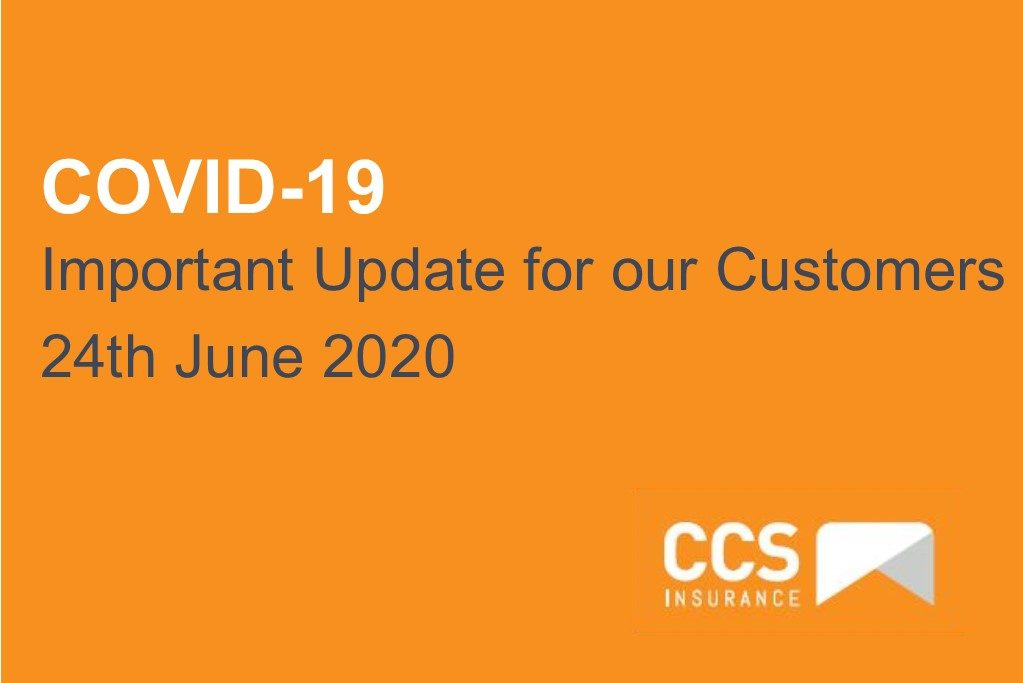 COVID-19 – Important Update for our customers – 24th June